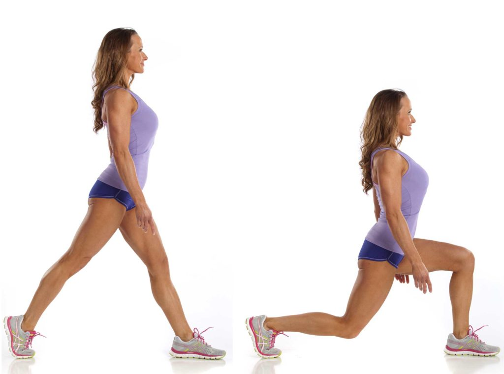 one leg lunges